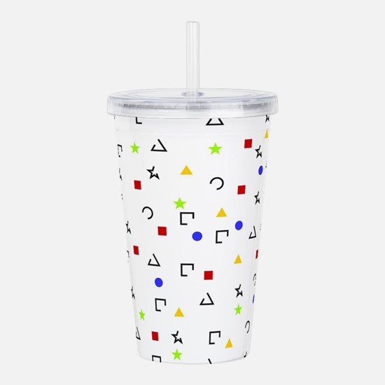 Triangles squares circ Acrylic Double-wall Tumbler
