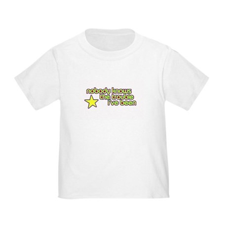 trouble toddler tee