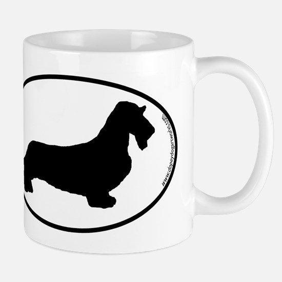 Wirehaired Dachshund SILHOUETTE Stainless Steel Tr