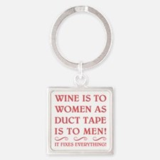 WINE IS... Square Keychain