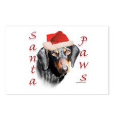 Santa Paws Smooth Dachshund Postcards (Package of
