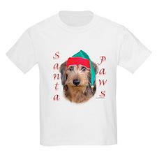Santa Paws Wire Dachshund Kids T-Shirt