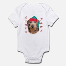 Santa Paws Wire Dachshund Infant Bodysuit