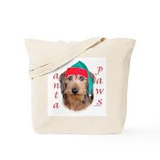 Santa Paws Wire Dachshund Tote Bag