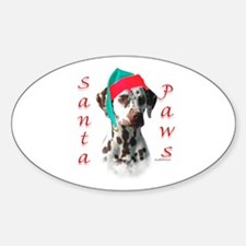Dalmatian(liver) Paws Oval Decal