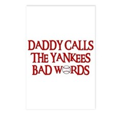 Daddy Calls The Yankees Bad Words Postcards (Packa