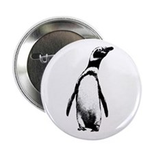 Jackass Penguin Art Button