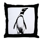 Jackass Penguin Art Throw Pillow