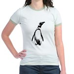 Jackass Penguin Art Jr. Ringer T-Shirt
