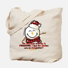 Snow Man Smiley Tote Bag