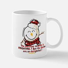 Snow Man Smiley Mug