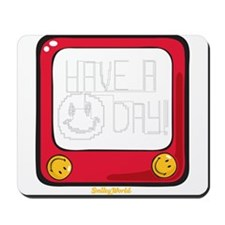 Etch a nice day Smiley Mousepad