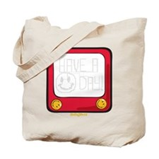 Etch a nice day Smiley Tote Bag