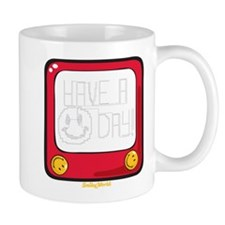 Etch a nice day Smiley Mug