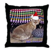 Elvis, the Devon Rex, Christmas Pillow