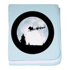 Christmas Moon baby blanket