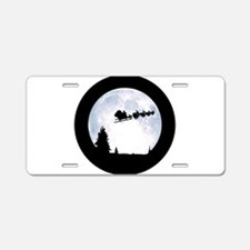 Christmas Moon Aluminum License Plate