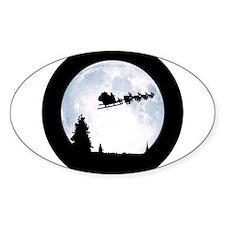 Christmas Moon Decal