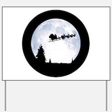 Christmas Moon Yard Sign