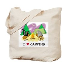 I Love Camping Tote Bag