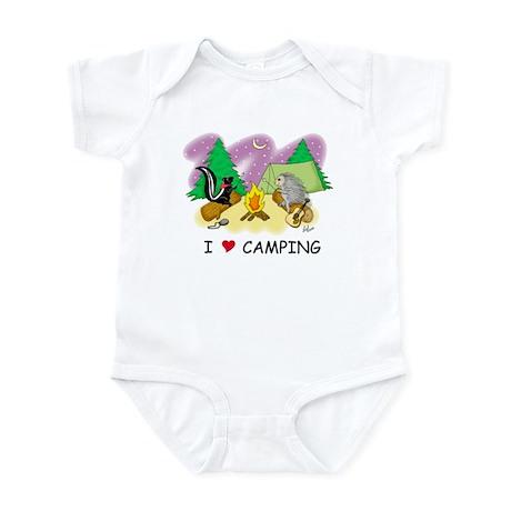 I Love Camping Infant Bodysuit