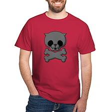 Black Cat Red T-Shirt