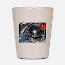 Abstract Camera Lens Shot Glass
