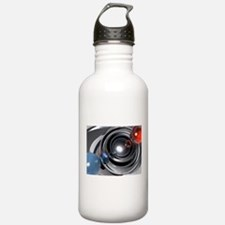 Abstract Camera Lens Water Bottle