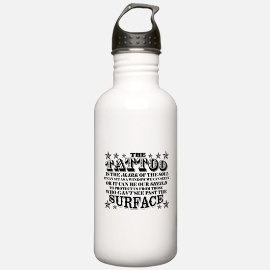 Funny Tattoo Water Bottle