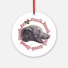 Irish Wolfhound Christmas Ornament (Round)