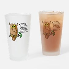 Wise Owl Drinking Glass