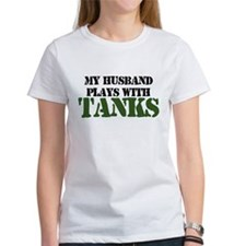 My Husband Plays With Tanks Tee