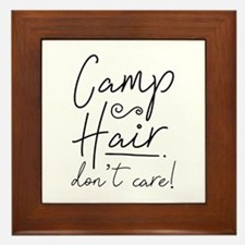 Camp Hair Don't Care Framed Tile