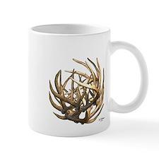 Whitetail Buck Deer Antler Art Cluster Mug