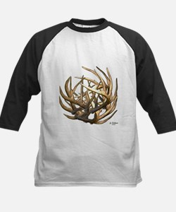 Whitetail Buck Deer Antler Art Cluster Tee