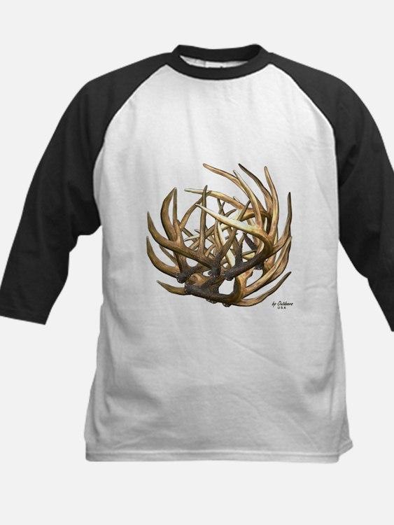 Whitetail Buck Deer Antler Art Cluster Tee
