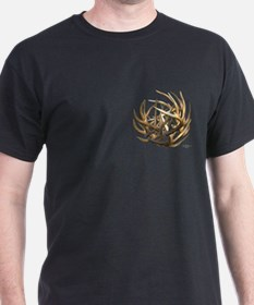 Whitetail Buck Deer Antler Art Cluster T-Shirt