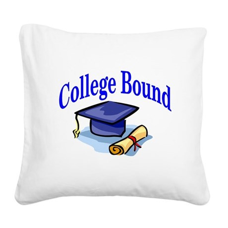 collegeboundhat.jpg Square Canvas Pillow