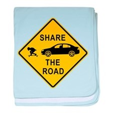 Share the road baby blanket