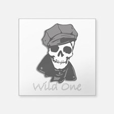 "Wild One-3 Square Sticker 3"" x 3"""