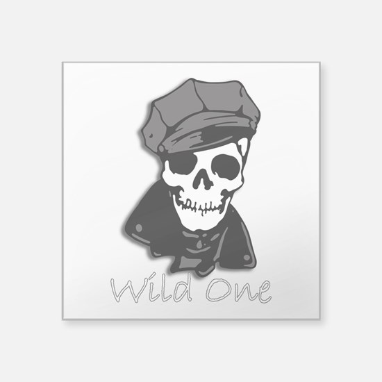 "Wild One-3 Square Sticker 3"" x 3"""