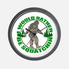 Rather be Squatchin G Wall Clock