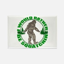Rather be Squatchin G Rectangle Magnet