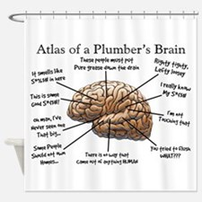 Atlas of a Plumbers Brain.PNG Shower Curtain