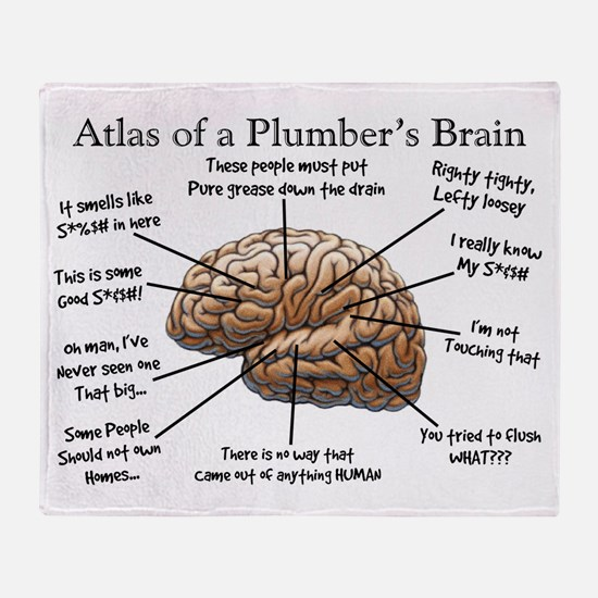 Atlas of a Plumbers Brain.PNG Throw Blanket