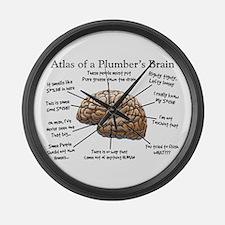 Atlas of a Plumbers Brain.PNG Large Wall Clock
