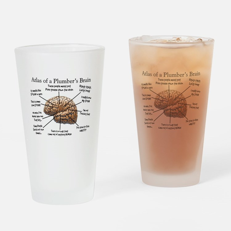 Atlas of a Plumbers Brain.PNG Drinking Glass