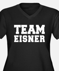 TEAM EISNER Women's Plus Size V-Neck Dark T-Shirt