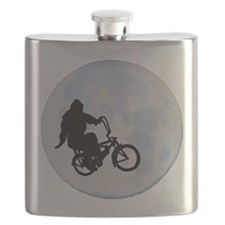 Bigfoot on bicycle Flask