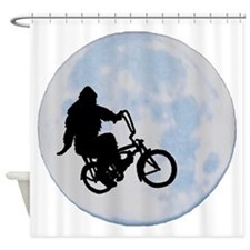 Bigfoot on bicycle Shower Curtain